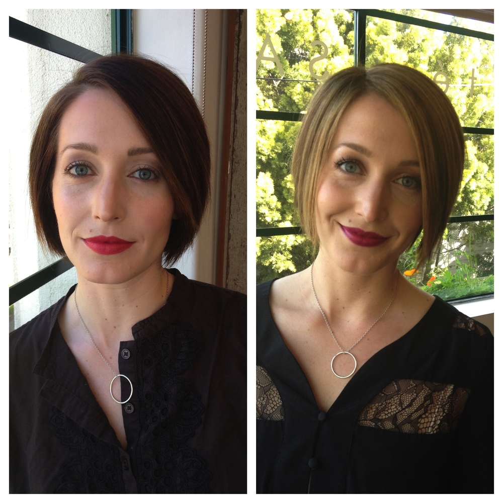 Rebecca Beardsley Hair Bob Before and After