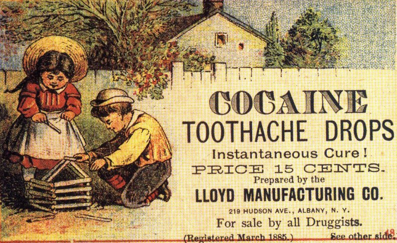 Cocaine Toothache Drops (with kids in picture) vintage ad.jpg
