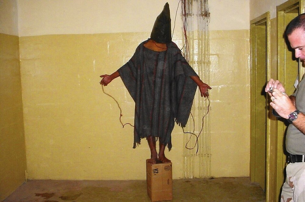 One example of the prisoner abuse at Abu Ghraib