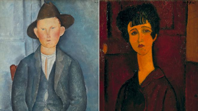 "Amedeo Modigliani artworks to be included in the upcoming exhibition ""Modigliani"" at the Tate Modern."