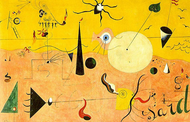 "The painting, ""Catalan Landscape"" (1924), by Joan Miró."