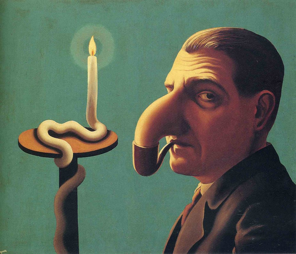 "The painting, ""Philosopher's Lamp"" (1936), by René Magritte."