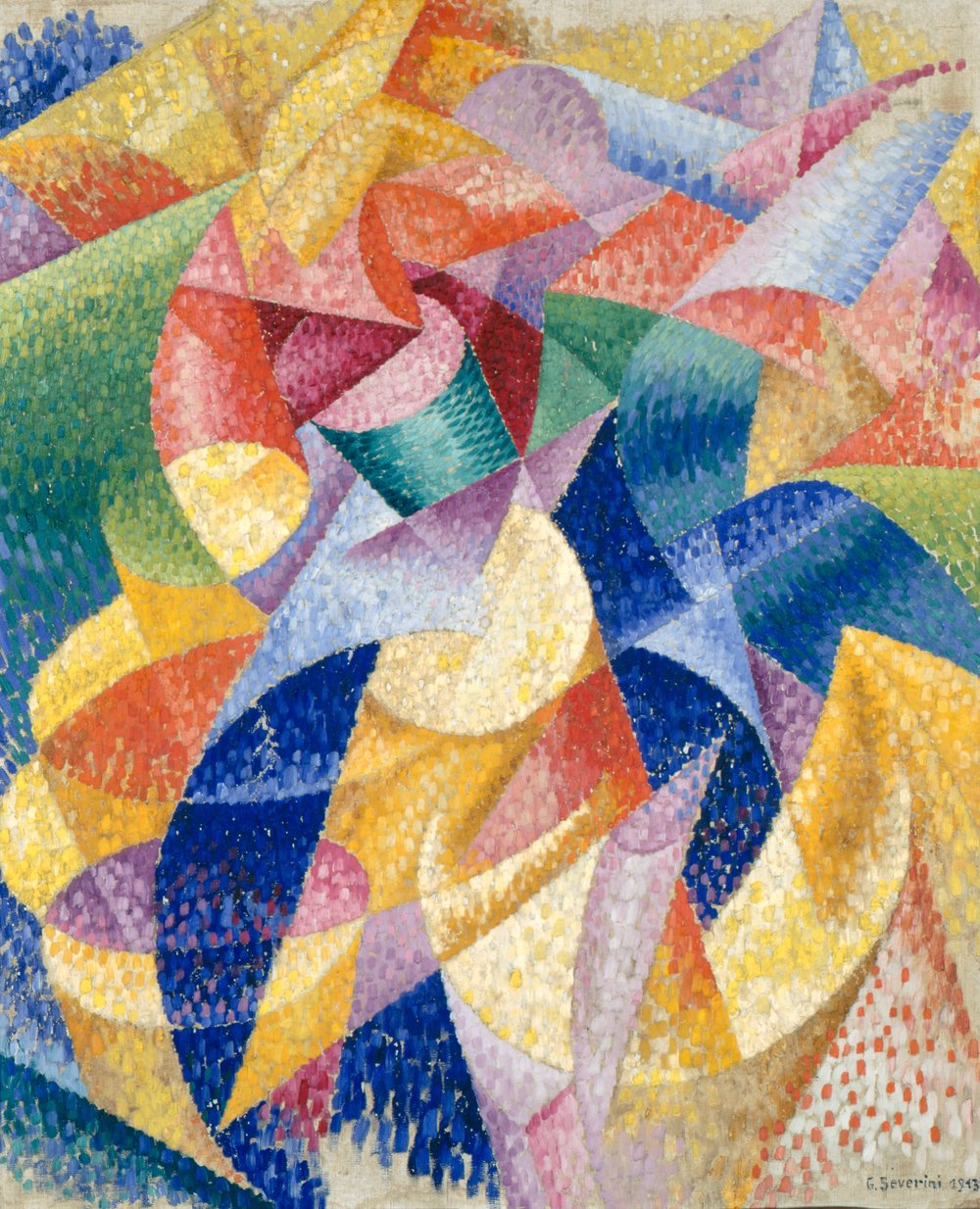 "Gino Severini's futurist painting ""Sea = Dancer""(1914)."