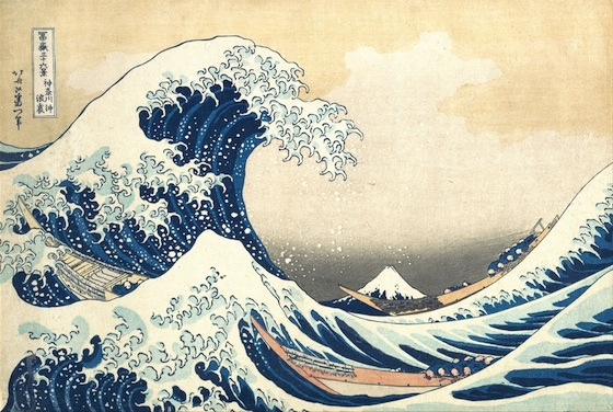 "Katsushika Hokusai's piece, ""The Great Wave off Kanagawa"" (1830-31), one of the most recognizable ukiyo-e prints to this day."
