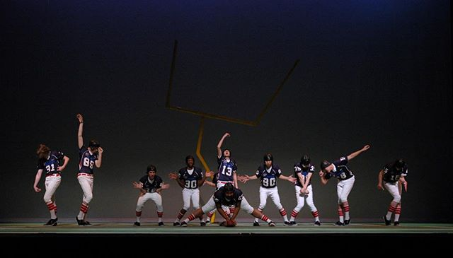 """I'm on my way down to Philly to direct and choreograph the @penngleeclub in their annual winter show, """"The Good, The Bad and the Uglee."""" This is my 11 Show with the group, 4 years as a member, 2 years as guest choreographer and 5 years as director/choreographer.  This picture is from the 2011 show, Guys and Balls: A Football Musical about a football team that won the season by incorporating Fosse into their playbook.  After 6 years, it feels like I'm coming home ... Hail Pennsylvania .... . . . #nobigdeal #nailingit #werk #yas #kween #gleeclub #kickballchange #rehearsal #hellweek #theatre #musicaltheatre #theatre"""