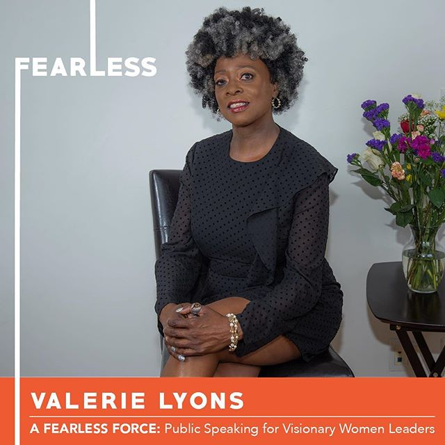 So excited to share with you Valerie Lyons, one of our six participants in Circle 11 of A Fearless Force.  Founder of Valerie J. Lyons Enterprises, she is a passionate Women Empowerment Facilitator, Career Empowerment Coach, and Power Networker. Valerie is a dynamic speaker, author, and expert group facilitator who works with individuals and groups to provide them with practical and systematic approaches to actualize their life goals and objectives.  Join us on Thursday at 6pm to hear Valerie share her original TED style speech at CSI.  Link for tix in bio. . . . #nobigdeal #nailingit #werk #yas #storytelling #publicspeaking #leadership #inclusion #creative #creativity #creator #manifest #women #womenempowerment #power #network #kickballchange