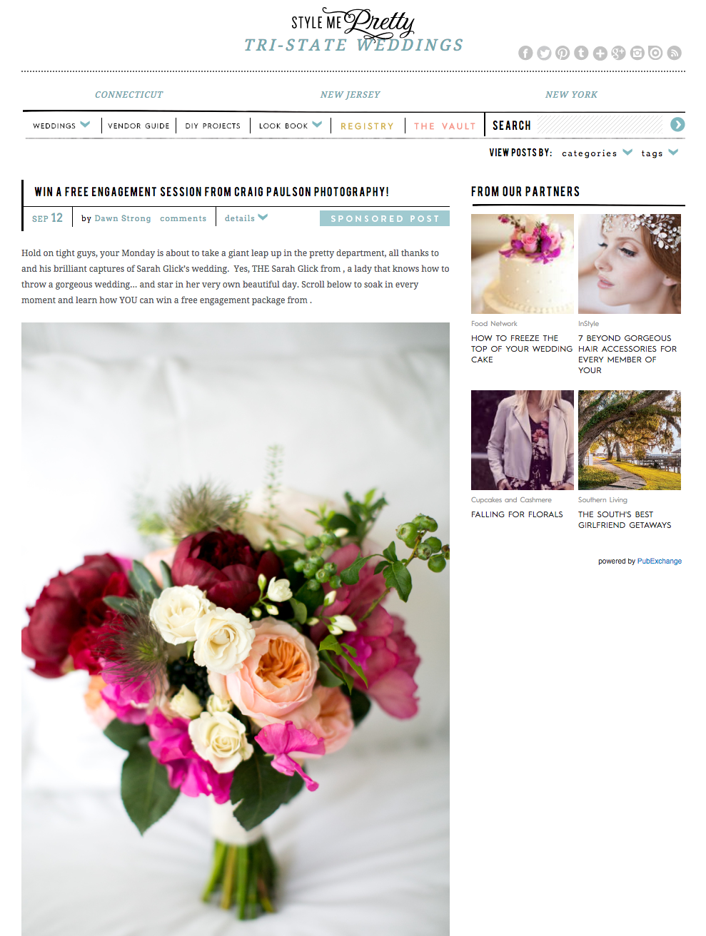 Style me prettys feature on tri state weddings and how you can win stylemeprettyg mightylinksfo