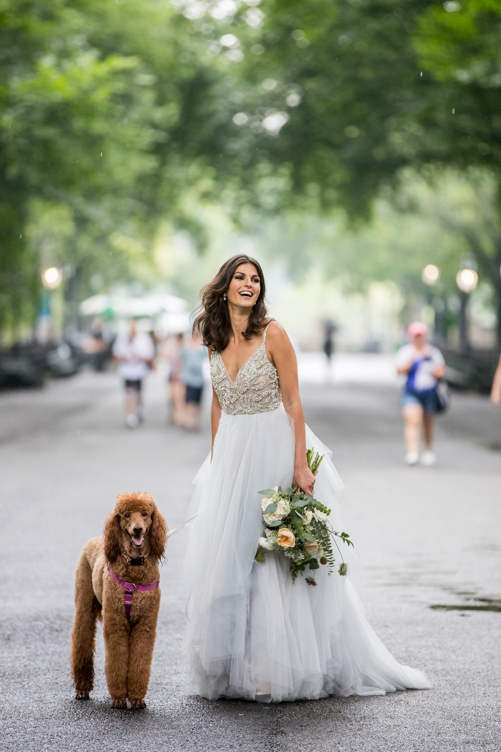 park wedding bride and dog photography 0026