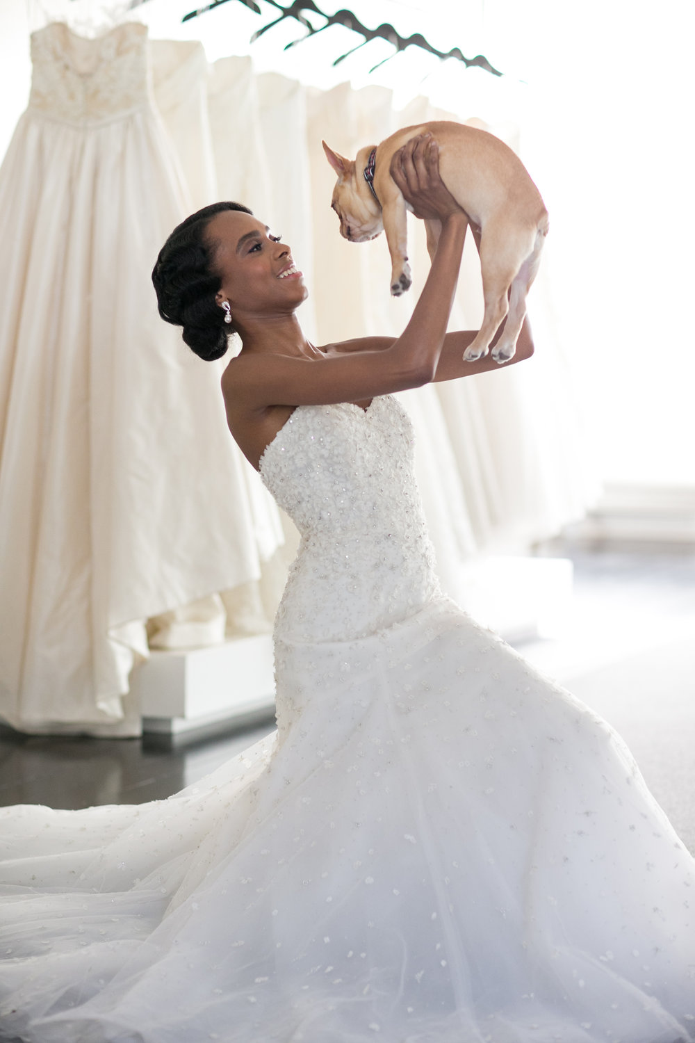 bride wedding dress and dog photography 0026