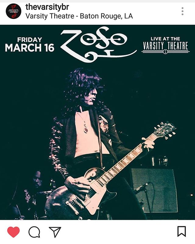 Baton Rouge, you're up this Fri night! See you at @thevarsitybr 🤘🎸🎙️🥁 . . . #batonrouge #louisiana #ledzeppelin #zeppelinfans #tributeband #livemusic
