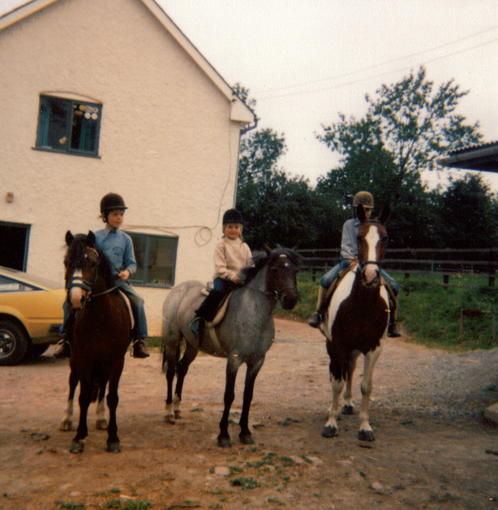 Matthew, Louise and Andrew on their ponies.jpg