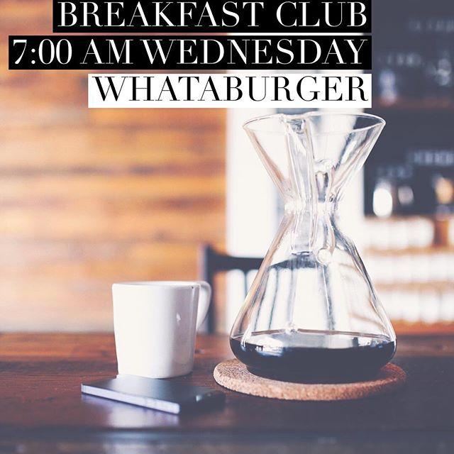 See you at BUMC Breakfast Club tomorrow!