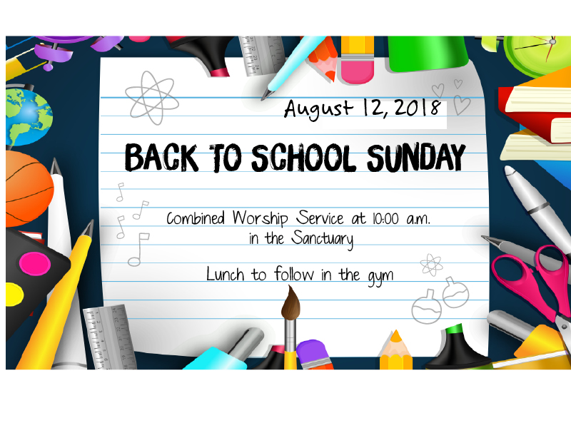 - In this Edition | August 9, 2018Back to School Sunday!Kids HopeSchool Supply DriveEnneagram RelationshipsUMWHighland Blessings DinnerGrand GatheringAnd Much More!