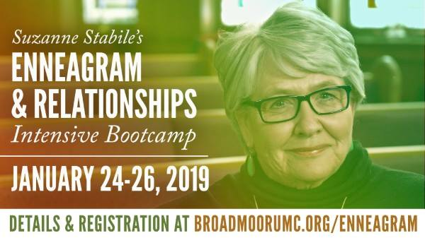 Led by Suzanne Stabile | January 24 - 26 (Jan. 24, 1 - 5 PM. / Jan. 25 - 26, 9 AM - 5 PM) | Early Bird $325 | Late $375    Join Suzanne Stabile, co-author of  The Road Back to You: An Enneagram Journey to Self-Discovery  (with Ian Cron), author of  The Path Between Us: An Enneagram Journey to Healthy Relationships , and host of the popular podcast,  The Enneagram Journey  as she discusses the Enneagram and Relationships. Her teaching will include the best of each number, the uniqueness of each personality, the ways one number relates to another, and what each personality would want others to know. Suzanne will teach and answer your questions about the 45 possible combinations in the Enneagram system with her usual insight and humor. Her colorful examples showcase each number and highlight the challenges of being in relationships with other numbers as well as the balance they can bring each other.