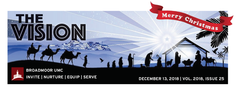 3rd Sunday in Advent! - Pastor's MessageChristmas Eve Worship TimesYouth NewsChildren's NewsNew MembersAnd much more…