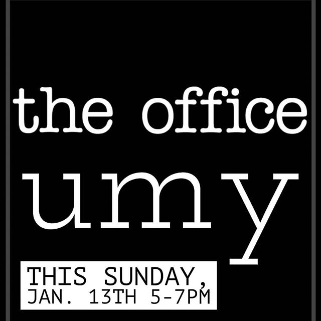Come join us this Sunday night for UMY as we take on The Office. What can we learn from this iconic show? And how is Kyle possibly going to connect Michael Scott to Jesus? You'll have to come and see for yourself! #ripkevinschili #bearsbeetsbattlestargalactica #ifeelgodinthischilistonight