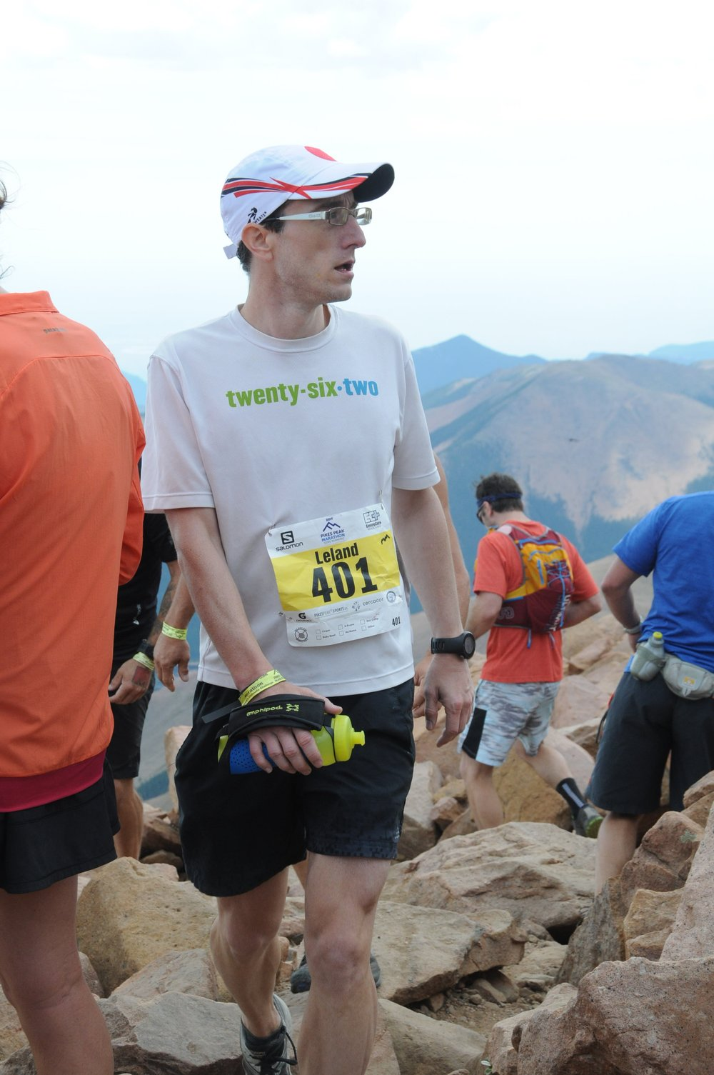At the top in the 2017 Pikes Peak Marathon.
