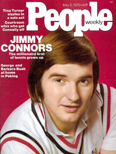 Jimmy Connors on the cover of People Magazine. Photo by Co Rentmeester