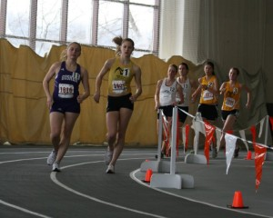 In college, an indoor 3000m race against some old high school teammates
