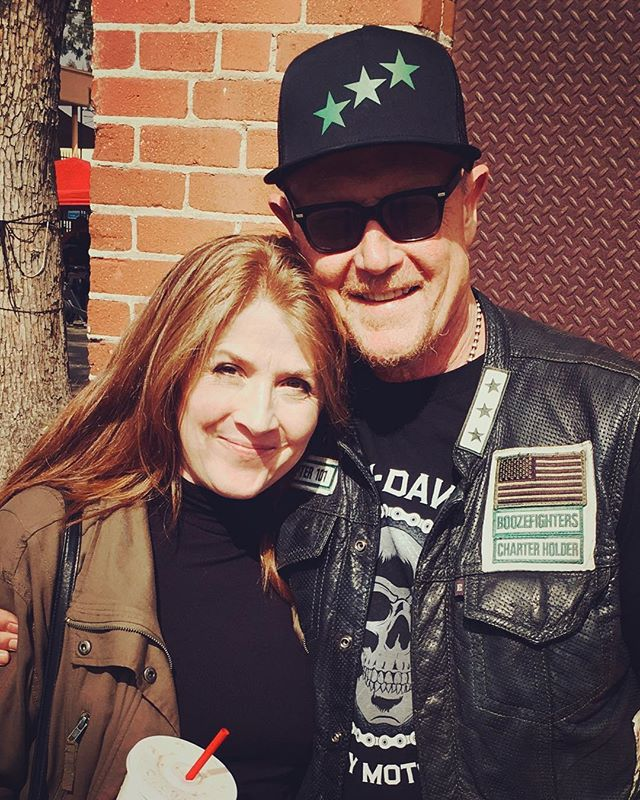Having fun at the @glendaleharley block party. 🏍 Thank you Robert Patrick! You're awesome! 😘 @ripfighter  #funtimes #happyweekend #ilovela #terminator #t1000