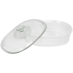 CorningWare 2 1/2 Quart Oval Casserole Dish with Lid