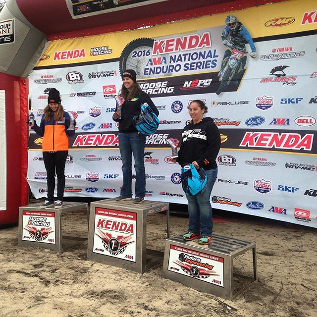 Womens A/B podium. Shawn Davidson, Kacy Martinez and Mandi Mastin! #nepg #Enduro