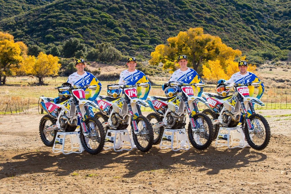 Rockstar Energy Husqvarna Factory Racing is happy to announce the 2017 off-road team featuring Colton Haaker, Josh Strang, Jacob Argubright, and Thaddeus Duvall. Photo by Simon Cudby.