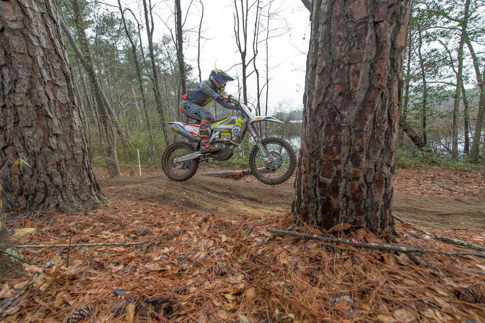 Rockstar Energy Husqvarna Factory Racing's Thad Duvall has a tough start to the 2018 National Enduro season. (Photo: Shan Moore)