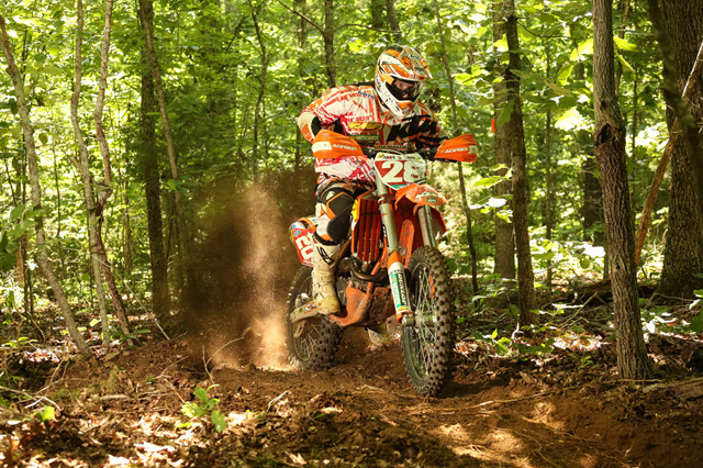 Retro photo of Mike Lafferty at the last National Enduro at Oak Ridge in 2014