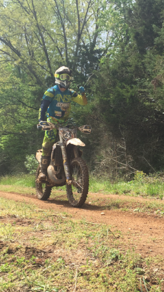 Jimmy enjoying his day in Virginia at the Dragons Back National Enduro