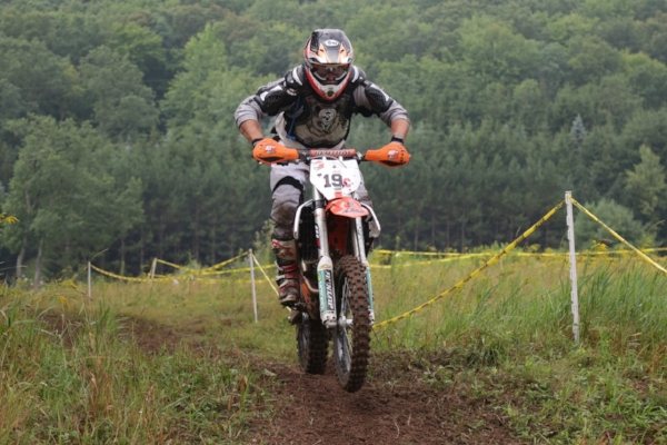 Lee on the Grass Track of the Rattlesnake National Enduro in Pennsylvania