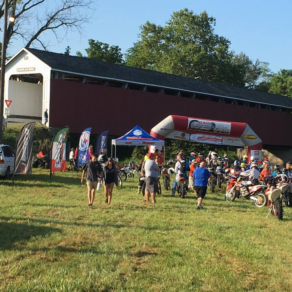Click Photo for Event Flyer for Muddobbers National Enduro at the Covered Bridge.