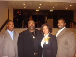 My wife and I with our son's; Brandon and Bryan.
