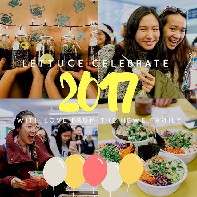 It's 2017 so let's start the new year ripe!  We want to thank YOU for all the love in 2016. Every single one of you have made 2016 a truly unforgettable year.  From DIY Succulent Gardens to Exam Care Packages, your continuous support has made HeWe grow so much that, as we enter the new year, we wish you all the love you have shown us.  To thank you lemons for the unconditional #HeWeLove, we have got some exciting news in store for you soon. There may or may not be an awaited cooking class with HeWe... ;) Happy New Year lemons!  Instagram: @sauderhewe Website: www.sauderhewe.ca  #HeWeLove #ChooseHealthy #Newyearnewmeal#2017Ready