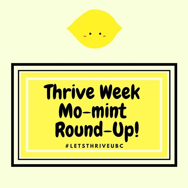 Hap-pea #HeWeMWM ~ We hope you had a grape Monday! Go check out our Thrive Week Round-Up blog post, where we summarize the events of the week and announce our stress ball winners! Blog: http://www.sauderhewe.com/blog-2/2017/11/20/thrive-week-re-cap