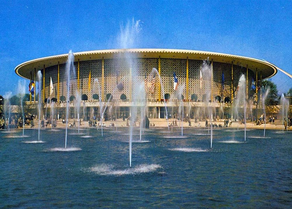 The American Pavilion in 1958 / Le pavillon américain en 1958 / Het Amerikaans paviljoen in 1958