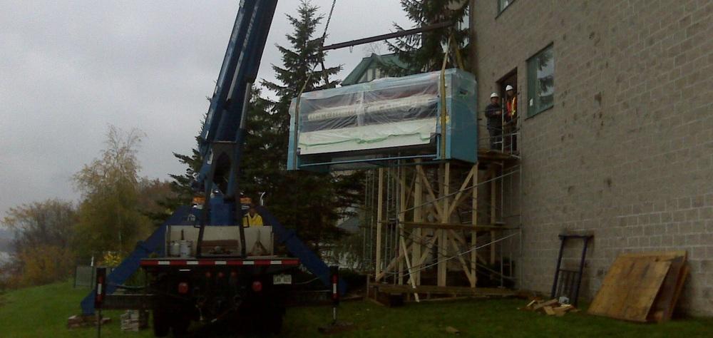 Delta Fredericton - Fredericton New Brunswick - Chicago Ironer Installation