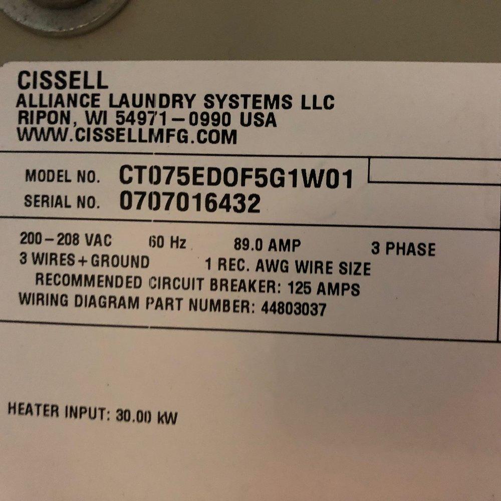 2007 Cissell East Coast Laundry Atlantic Canadas Leading Group 125 Amp Wiring Diagram Img 0447