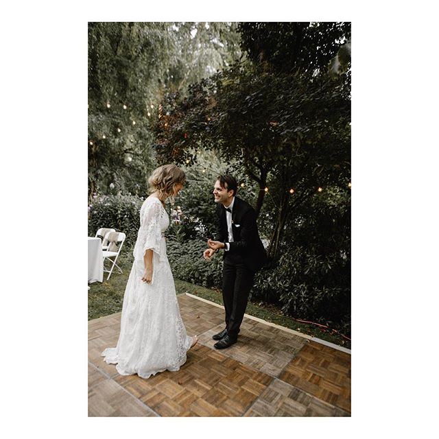 "Those first dance feels with your new fav name for your love.....""wife"" ❤️🙌🏼✨"