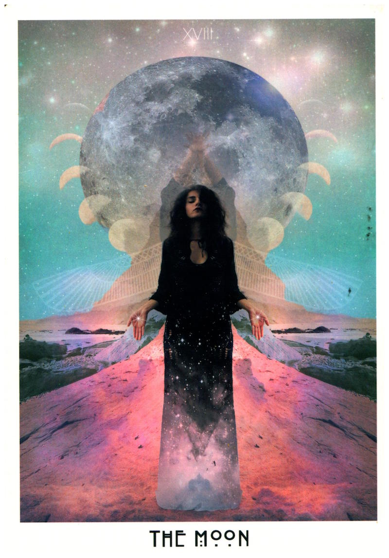 Message: You cast whatever shade you see. - The Moon card symbolizes the step in spiritual evolution that's all about making the unconscious conscious. This is the card of dreams, illusion, & psychic powers. This is also the card of shadow-work, which is a necessary step in every phase of soulful evolution: every new phase we pass through, we have to reintegrate the primal funk lurking in our unconscious with the Higher Self we continually become more aware of.True intuitive power comes from digging up, examining, & figuring out how to integrate our darkness with the Light. Usually we can only begin this tough, stomach-churning process after we've come online: we truly understand our capacity for cosmic consciousness.We've decided we're capable of evolving towards our Highest, Truest Self.