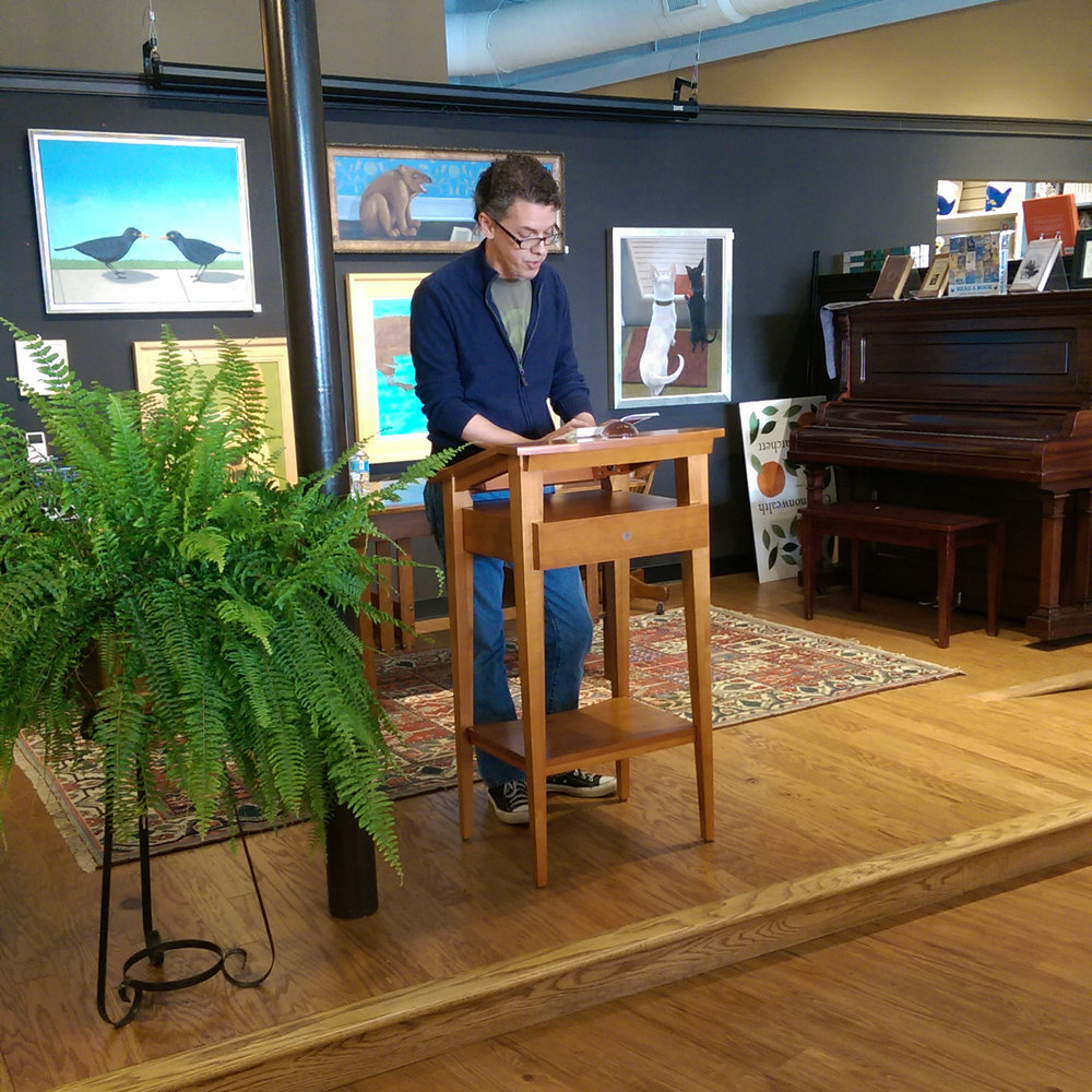 Author Christopher Smith reads from Salamanders
