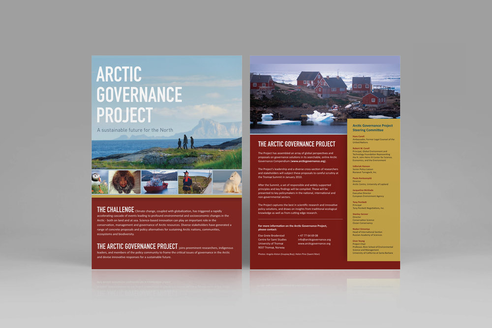 Brochure for The Arctic Governance Project
