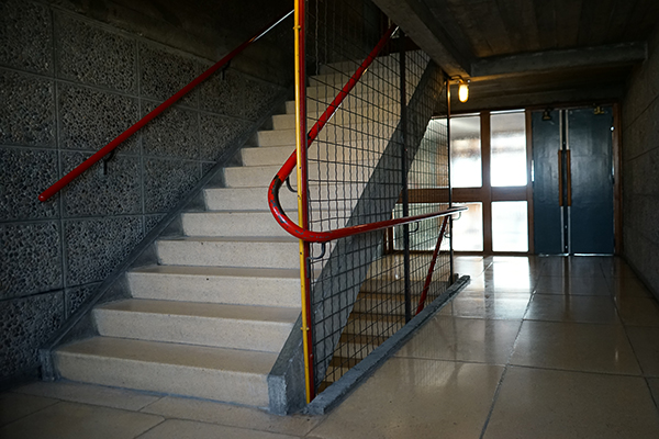 Gisèle remembers when, growing up in the Unité d'Habitation in Marseille by Le Corbusier, children were banned from loitering in the hallways so they commandeered the stairwells as their playground.