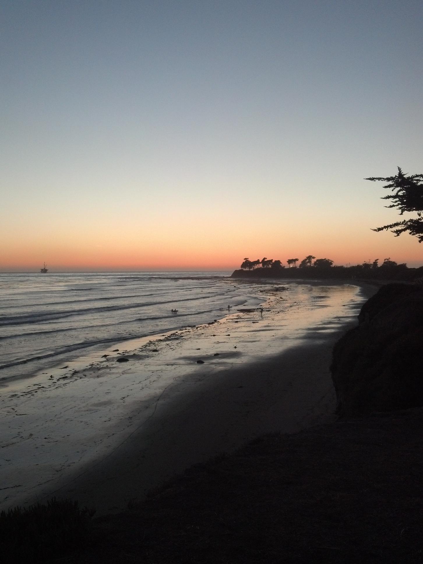 The beautiful sunset of Isla Vista