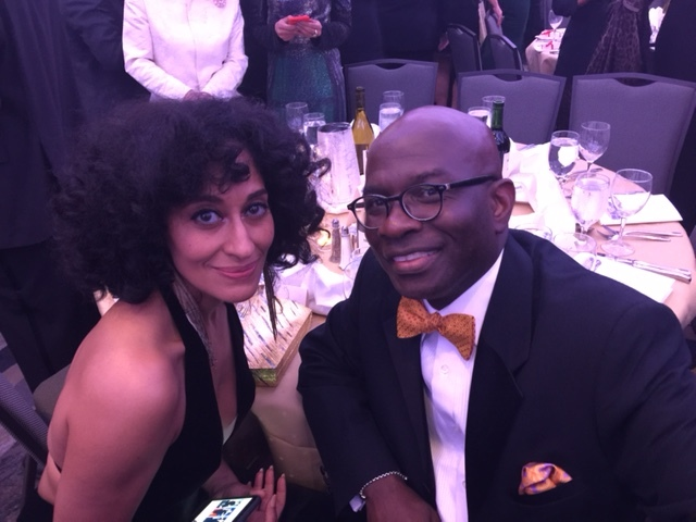 Actress Tracee Ross and Armstrong Williams at the White House Correspondents dinner.  (Courtesy: Armstrong Williams)