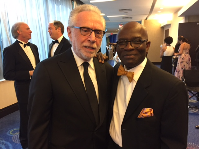 CNN's Wolf Blitzer with Armstrong Williams at the White House Correspondents dinner.  (Courtesy: Armstrong Williams)