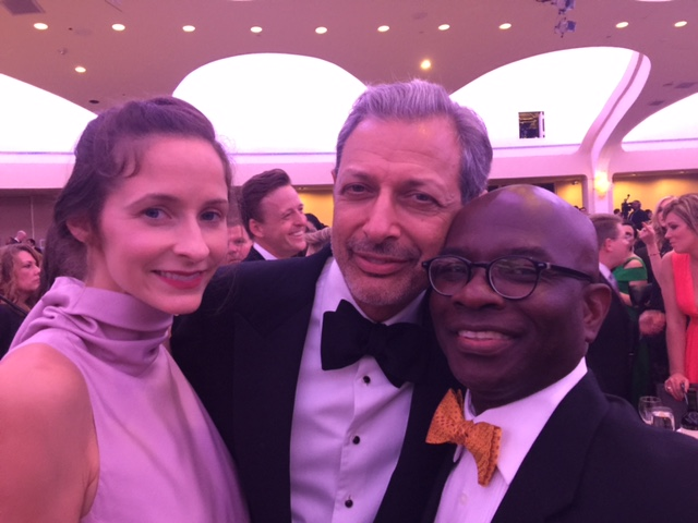 Actor Jeff Goldblum with Armstrong Williams at the White House Correspondents dinner. (Courtesy: Armstrong Williams)