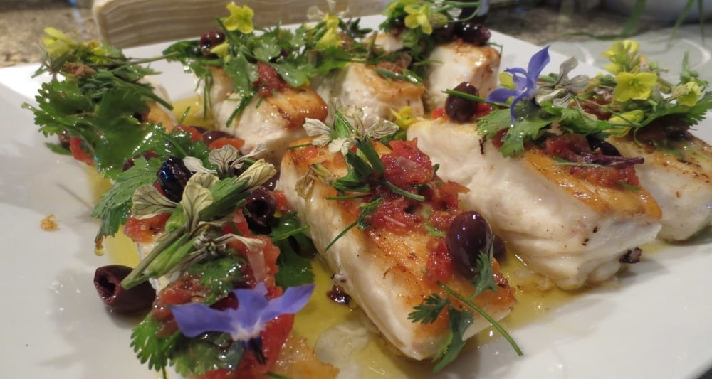 Ling Cod with Vierge Sauce.JPG