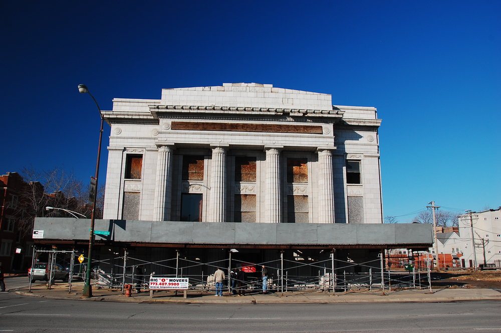 exterior of bank, February 2012. Photo by Eric Allix Rogers.