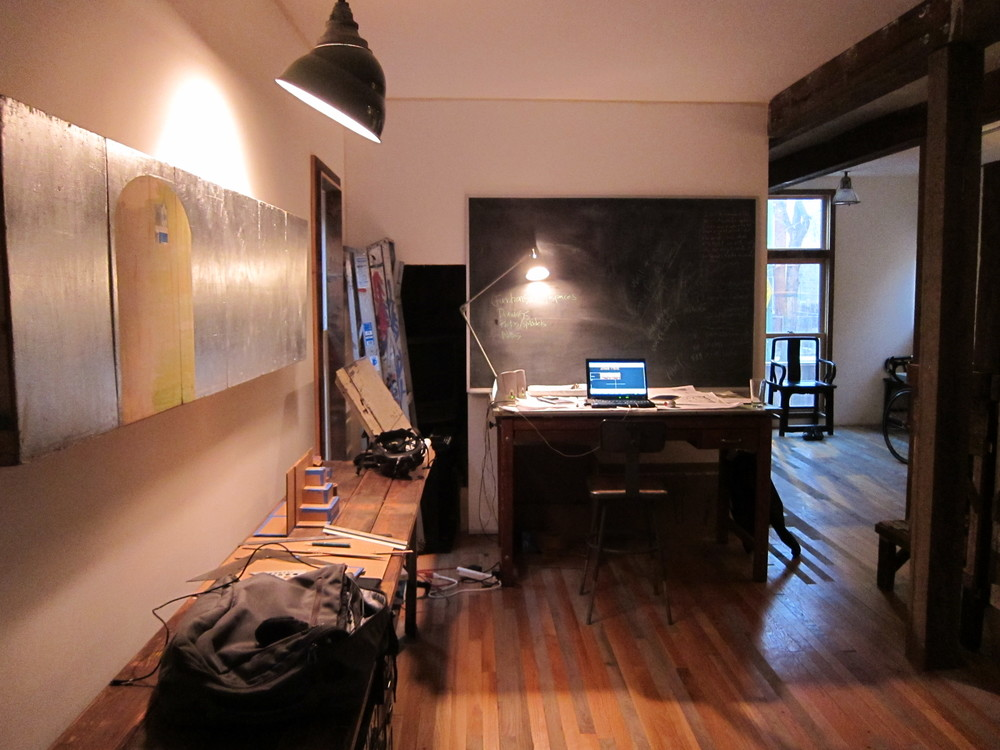 Design office at Dorchester Projects, Chicago, 2011